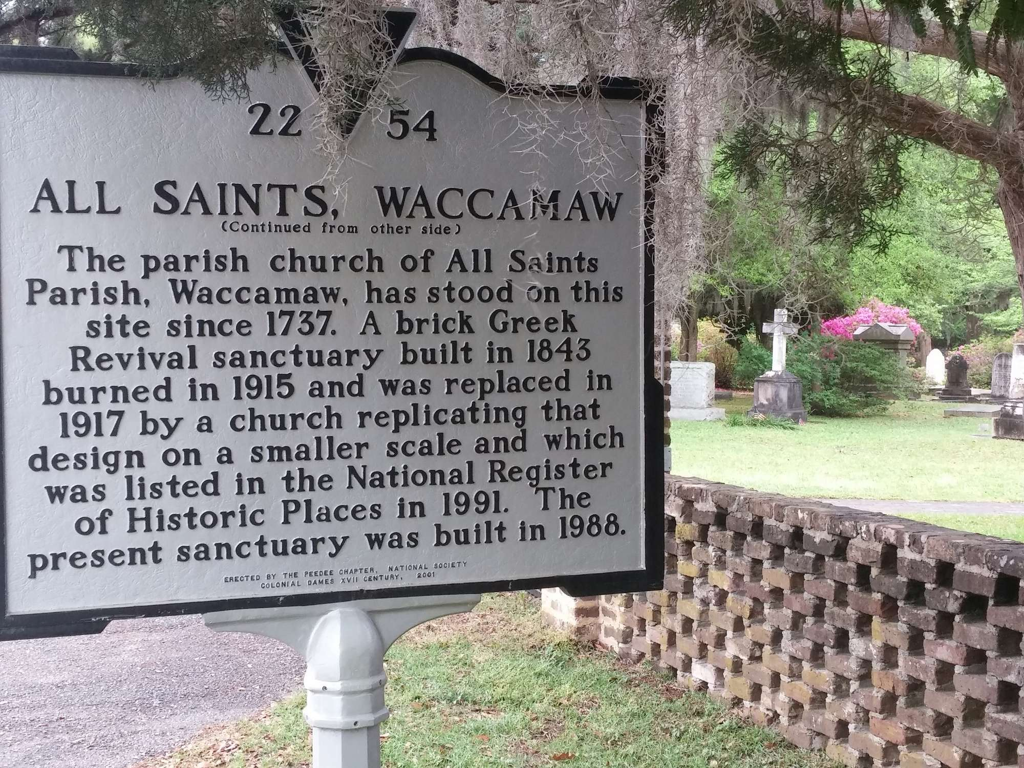 All Saints Church - Historical Marker, Continued