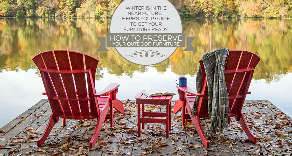 Blog Header With Two Red Adirondack Chairs Next To A Lake