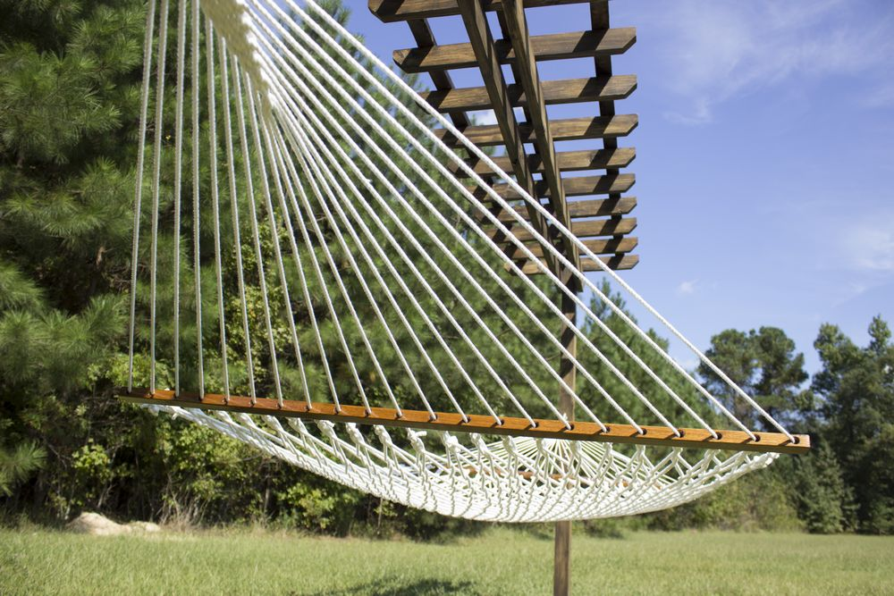 underneath-hammock-hanging-on-finished-pergola